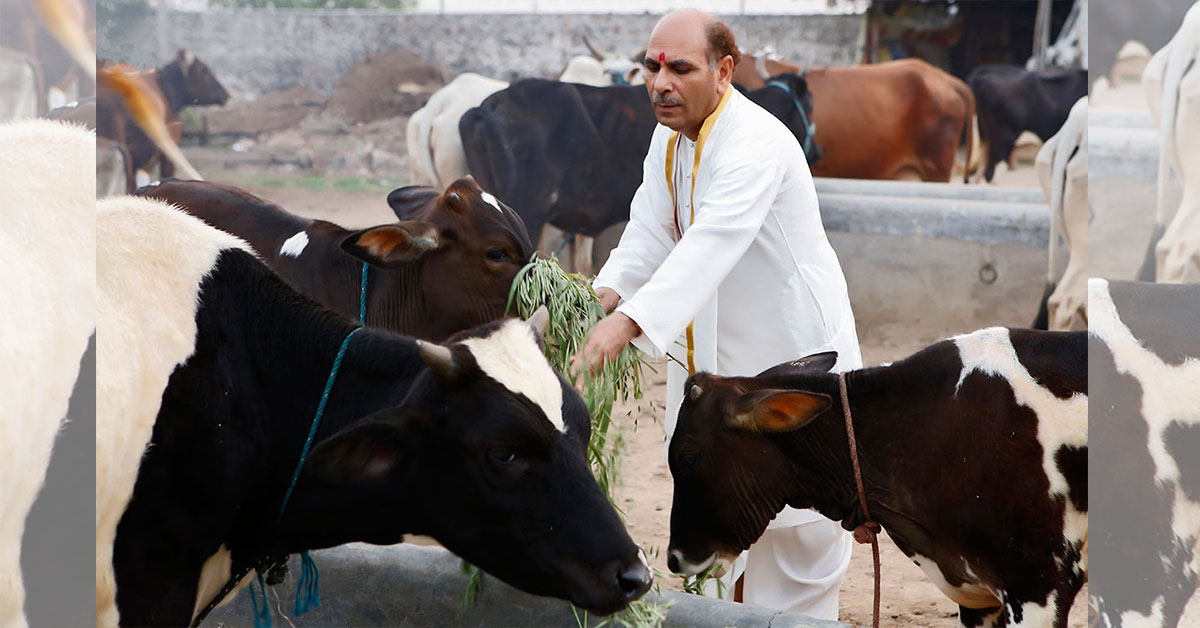 The service and security of cows will be the welfare of the world | Sudhanshuji Maharaj
